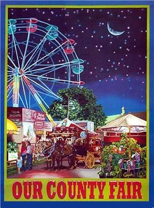 County Fair starts next week! Great Midwest American pastime...fun food, 4-H exhibits, crazy rides, ferris wheel!