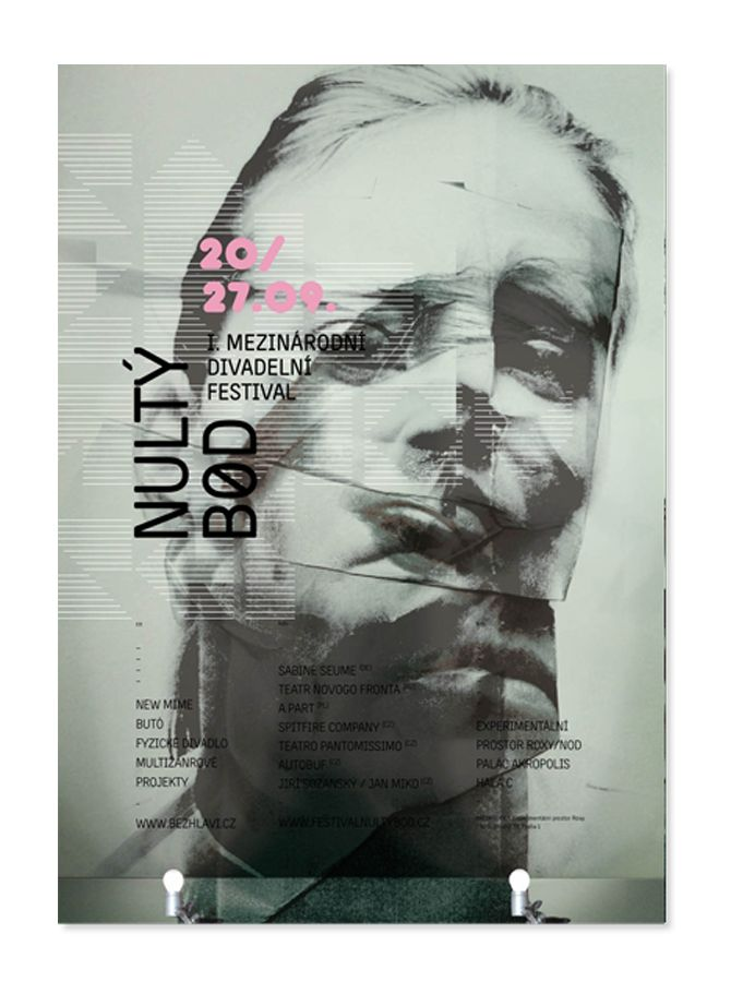 theatre poster, graphic design, dance, physical theatre http://grafika.evachudomelova.cz/festival-nulty-bod/