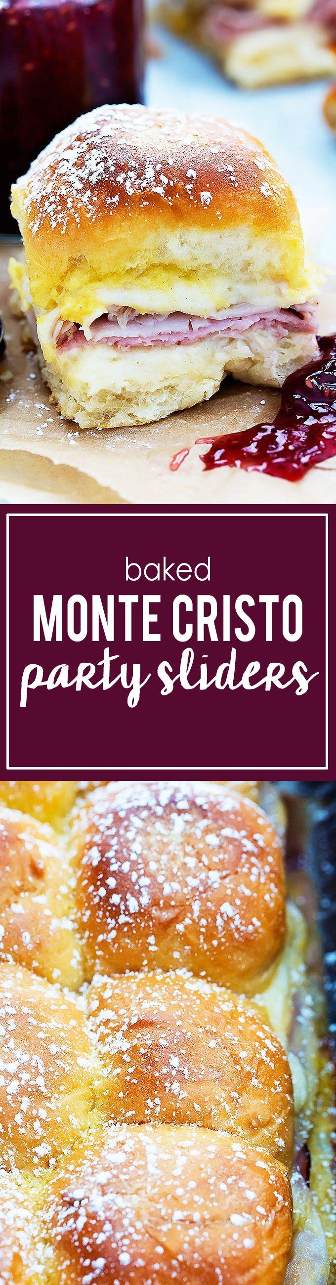 Baked Monte Cristo Party Sliders | Creme de la Crumb