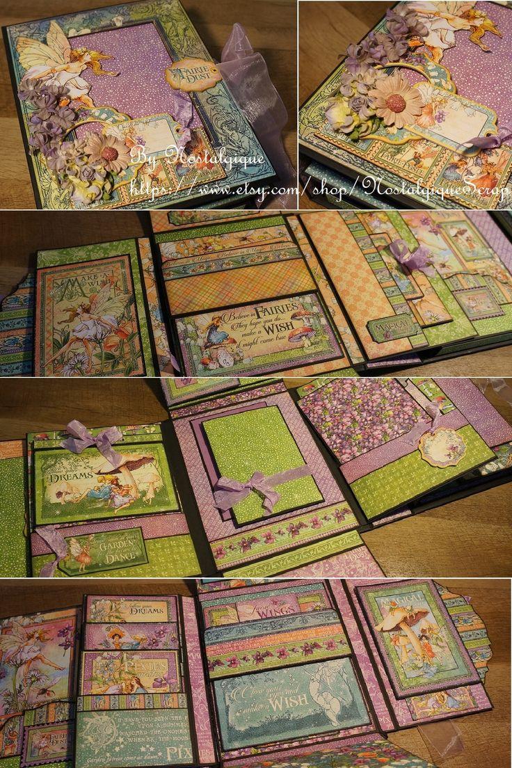 Fairie Dust Graphic 45 Mini Album Tutorial by Nostalgique