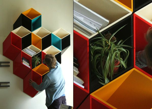 Second and a Half Dimension Shelves