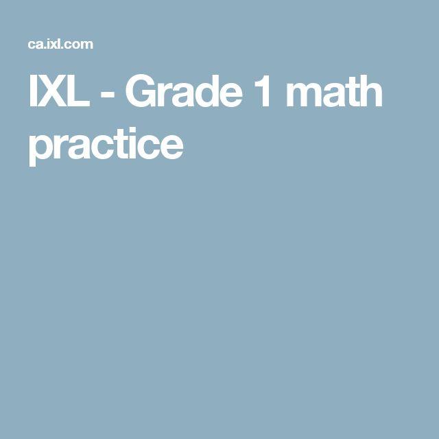 IXL - Grade 1 math practice