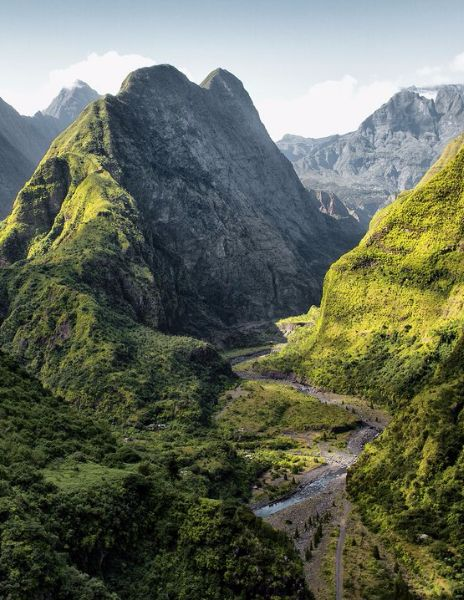 Réunion - This island to the east of Madagascar is located above a hotspot in the Earth's crust, causing the development of several very active volcanoes. All that geologic activity has only benefited the rich ecosystems of the island, and cultivated an underwater menagerie of marine life.