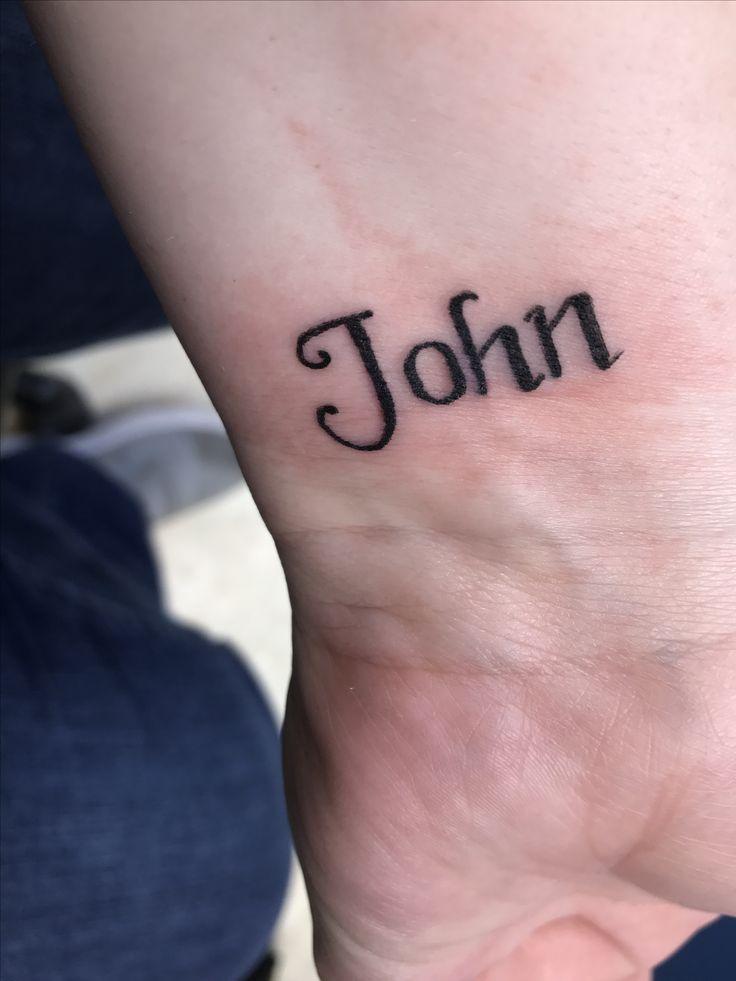 MY tattoo of MY husband's name