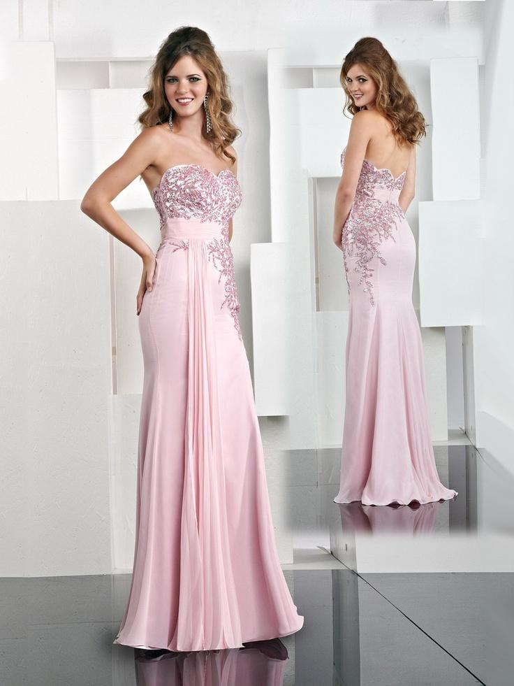 Abschlussball kleid pink