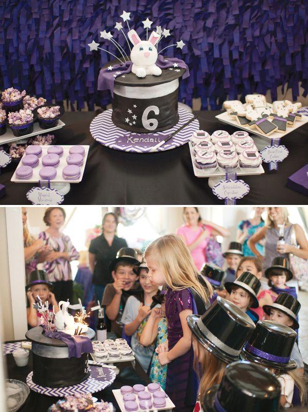 Fantastic Modern Magic Birthday Party {Purple Chevron}