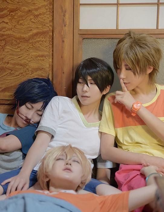 Haruka, Makoto, Rei and Nagisa (kuryu - WorldCosplay) | Free! #cosplay #anime