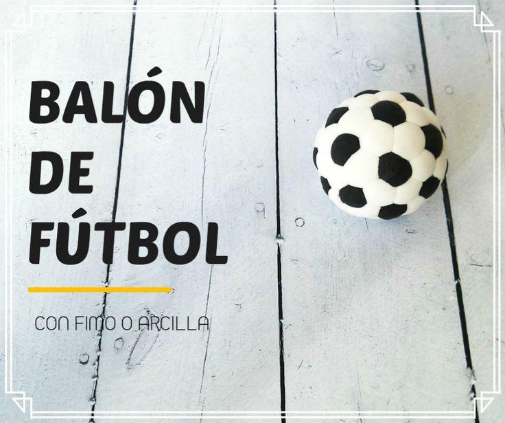 Cómo hacer un balón de fútbol con Fimo o arcilla polimérica - http://www.manualidadeson.com/balon-de-futbol-con-fimo.html