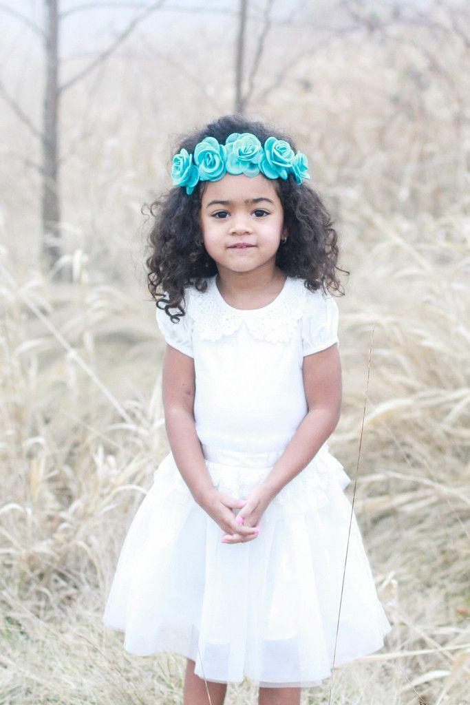 Teal Dava Crown – Arrow & Lace Designs Floral Crown headband, Girl flower headband