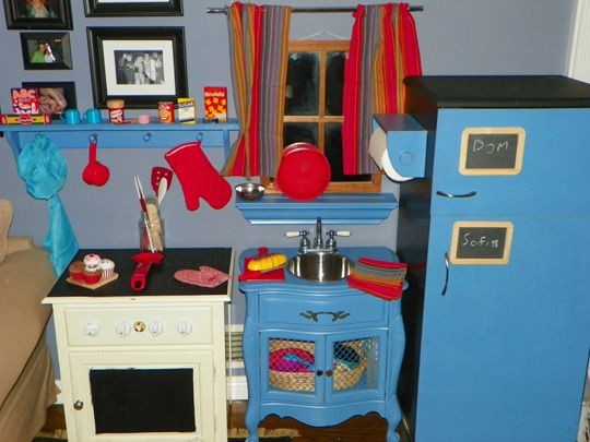Transformed Inexpensive Furniture Into A Play Kitchen