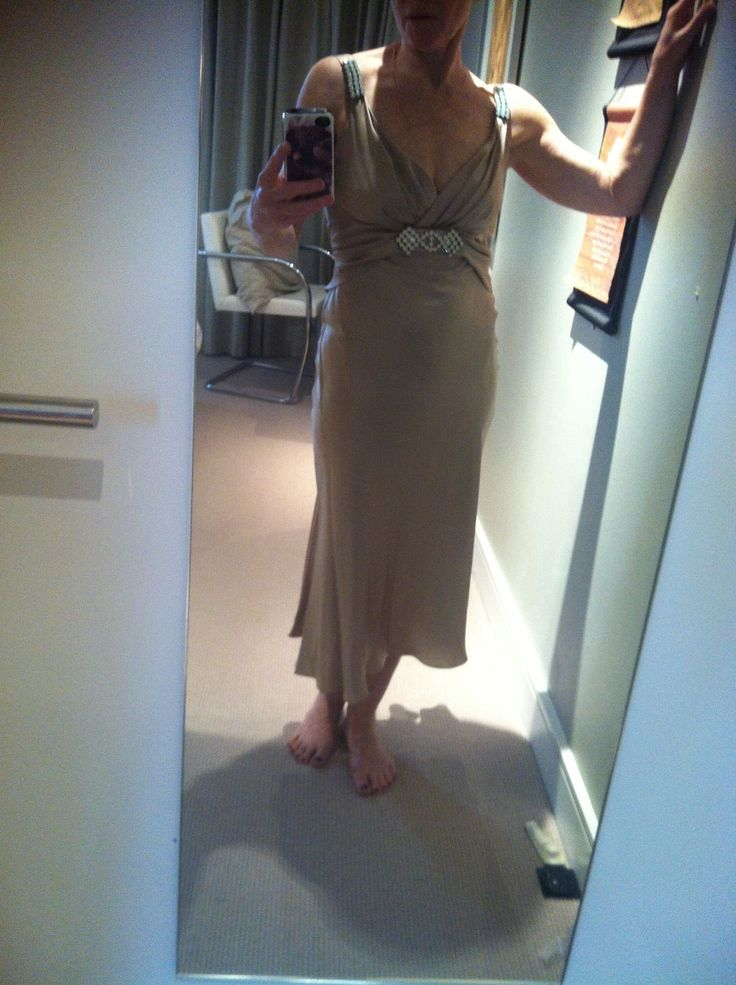 Dress up CD dress jewelled on midriff and shoulders - Champagne - front