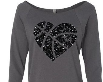 Basketball Shirt. Basketball Mom. Glitter by TNTCustomApparel