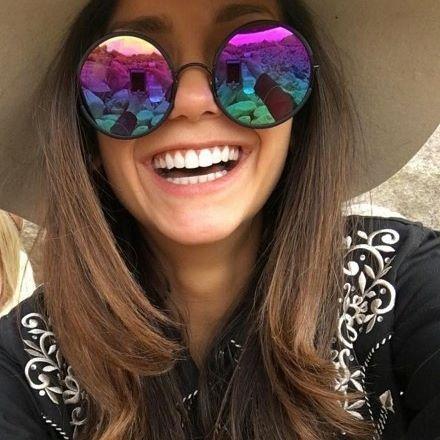 @ninadobrev is all smiles hiking through Joshua Tree National Park in her Black Matte wood effect YETTIs. Note the customised Rainbow Mirror Lenses we developed... #ninadobrev #sundaysomewhere #tvd