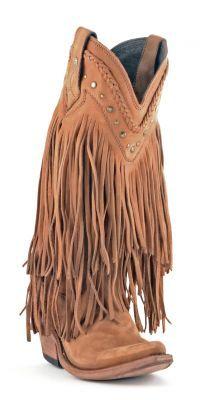 Womens Liberty Black Fringe Cowboy Boots  #Lb-71124veg #allensboots