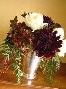 White Burgundy Wedding Flowers - The Wedding SpecialistsThe Wedding Specialists