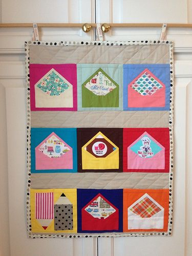 patchwork please youu0027ve got mail wall pocket by golfingbev this ish such