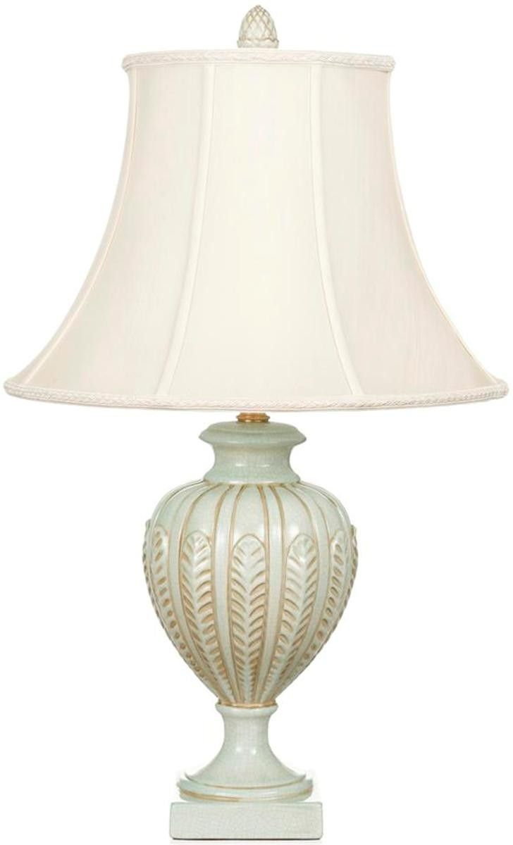 Aqua Feather Ceramic Lamp With Shade 25 H 443 Less
