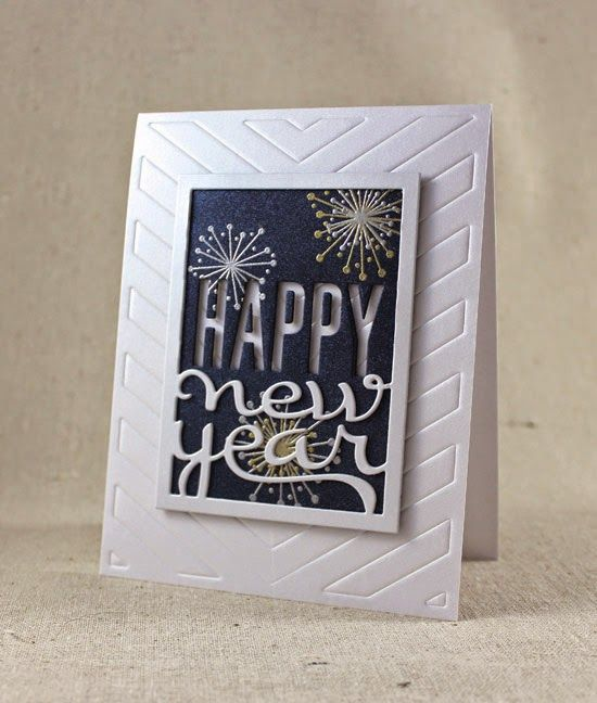 new year fireworks card by lizzie jones for papertrey ink september 2014 pti new years ideas pinterest cards new year card and christmas cards