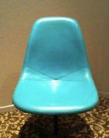 EAMES ROBIN'S EGG BLUE Turquoise Parchment Fiberglass Side Herman Miller Chair