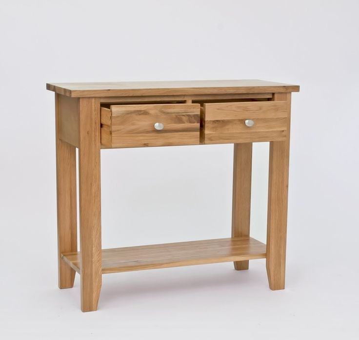 Lansdown Oak 2 Drawer Console Table - Our Lansdown Oak furniture collection offers sleek, contemporary styling, superb manufacturing quality and incredible value for money.