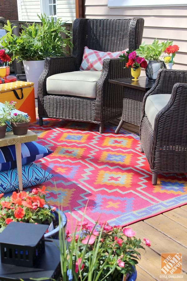 Diy Ideas For A Loud Laid Back Patio Makeover The Home Depot