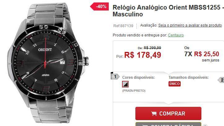 Relógio Analógico Orient MBSS1255 - Masculino << R$ 17849 em 7 vezes >>