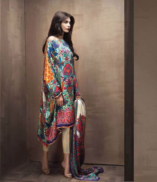 Sana Safinaz Silk collection 2015 SL_3B