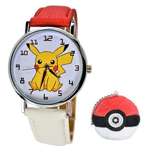 Pokémon Pikachu Quartz Analog Wrist Watch For Men Women Boys Girls Children.Fashion Large Modern Display (PIKACHU) – Pokemon Watch