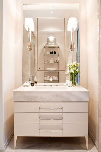 Mid-century Modern Powder Room