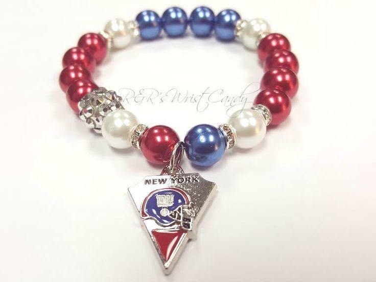 New York Giants Womens Bracelets, Football Bracelets NFL Charm Bracelets