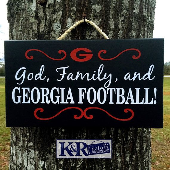 UGA GA Bulldogs Dawgs sign God Family by KRCustomWoodcrafts