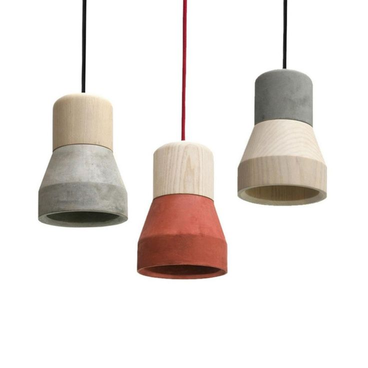 Cement Wood Lamp B