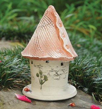Ladybug House  Attract beneficial, aphid-eating ladybugs to your garden with this handmade clay ladybug house. Ladybug houses create safe havens that mimic natural hiding places.