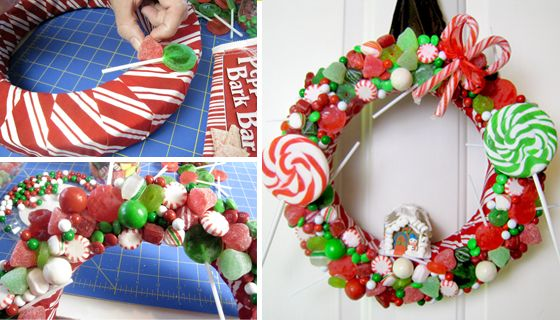 Learn how to make a yummy Gingerbread House Christmas Wreath. The hardest part is trying not to eat the candy before you glue it onto the wreath! #christmascrafts #christmaswreaths: Christmaswreaths, Diy Christmas Wreaths, House Christmas, Wreath Ideas, Christmascrafts, Diy Ideas Crafts, Gingerbread Houses