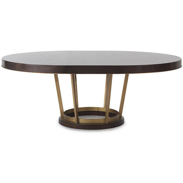 25 best ideas about oval dining tables on pinterest round dining tables dining table with - Round kitchen table with butterfly leaf ...