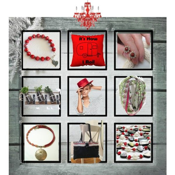 A Vision in Red! by cozeequilts on Polyvore featuring rustic