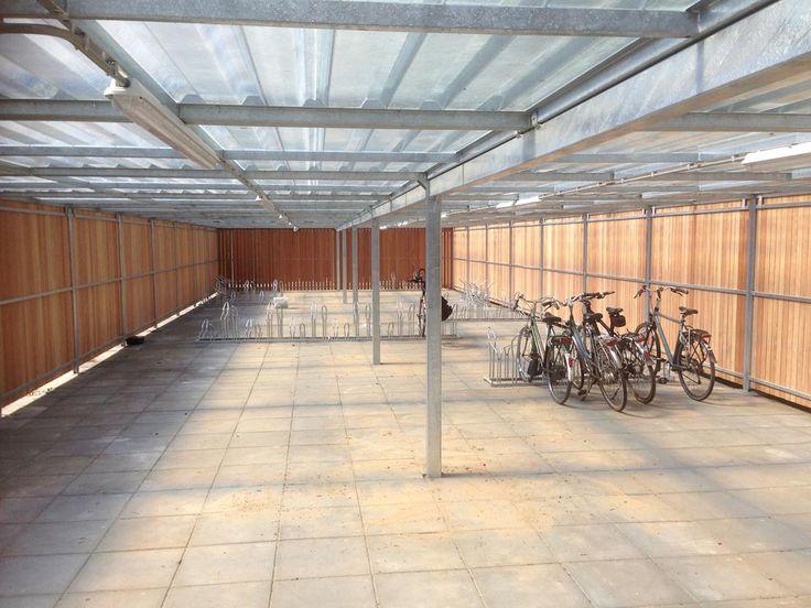 Falco fietsberging met transparant dak