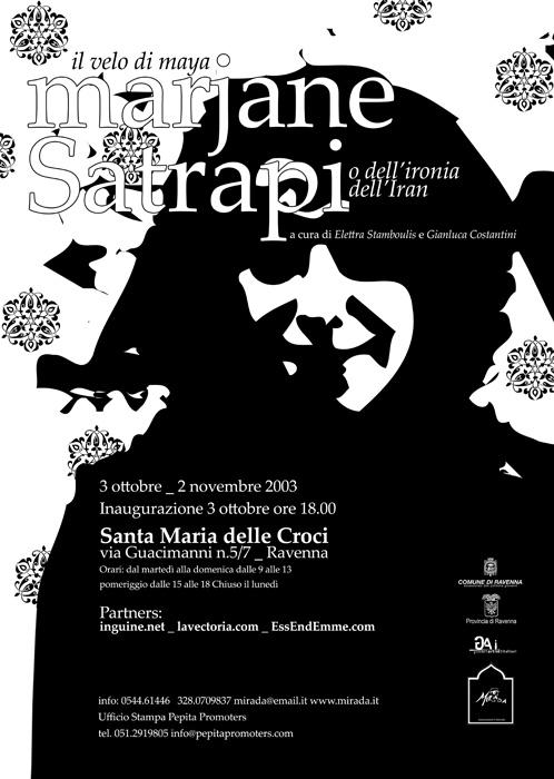 """Grafica e illustrazione per la mostra """"Marjane Satrapi Il velo di maya""""  http://www.gianlucacostantini.com/graphic"""