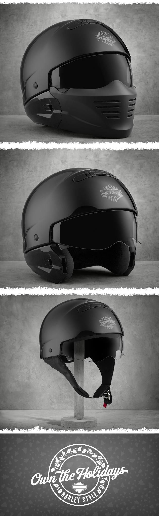 Bell custom 500 gloss black vintage low profile helmet chopper harley - 3 Innovative Options To Wear For Added Comfort Harley Davidson Pilot Ii 3