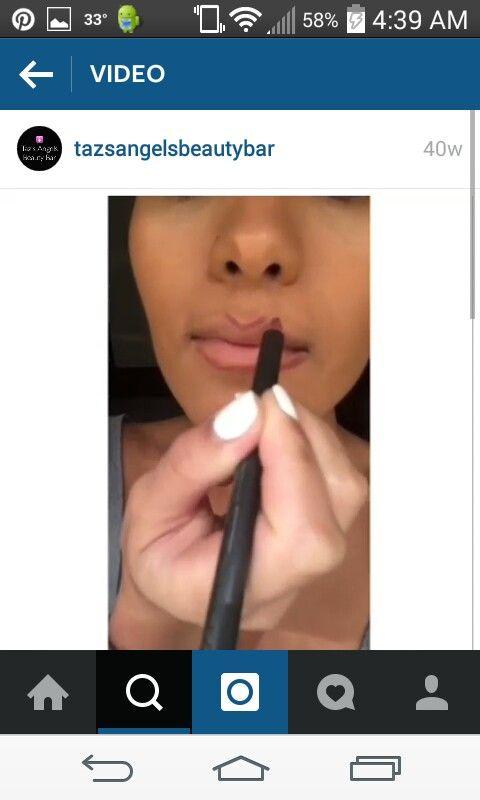 Makeup by Leena: Use Mac - Burgundy lip pencil as a lipstick, then use Mac - Razzle Dazzler as a lip gloss