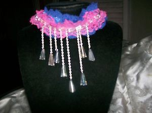 BEAUTIFUL-BLUE-PINK-CHOKER-WITH-DANGLE-CRYSTALS