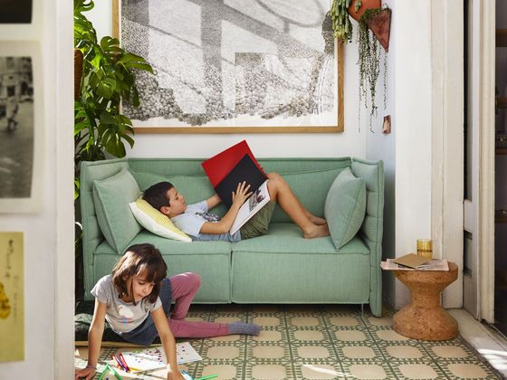 The Alcove Plume sofa is made for young and old.