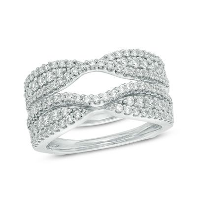 1 CT. T.W. Diamond Solitaire Enhancer in 14K White Gold