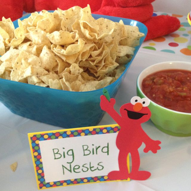 Sesame Street Party Food: Big Bird Nests - Scoop Chips and Salsa!