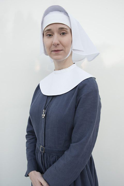 BBC One - Call the Midwife - Sister Mary Cynthia (Bryony Hannah)....Sister Mary Cynthia has been at Nonnatus House for several years. When she joined as a midwife, she was known as Nurse Cynthia Miller.