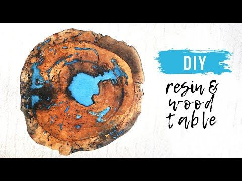 (12) DIY Live Edge Wood and Epoxy Resin Table || H…
