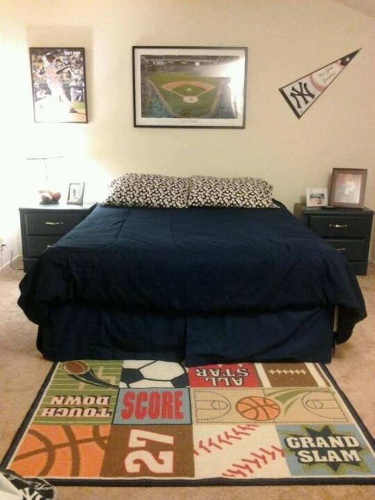 Sports Themed Bedrooms For Boys