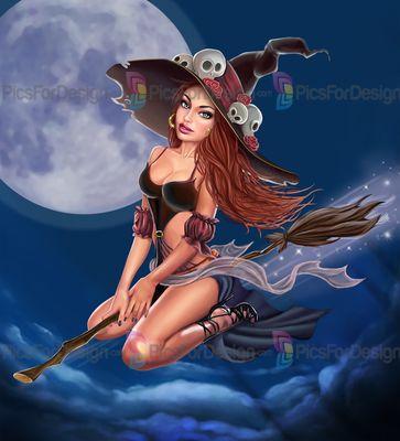 Witch - Illustration store PicsForDesign.com. PSP tubes ...