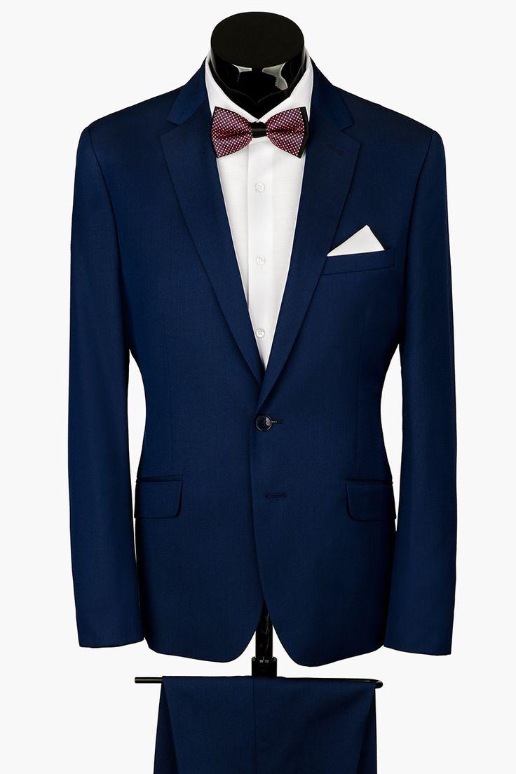 Мужской прилегающий костюм S TELGATE LUX синего цвета