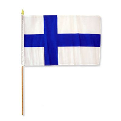 FlagsImporter Finland Traditional Flag and Flagpole Set